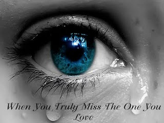 truely missing you image with crying eye