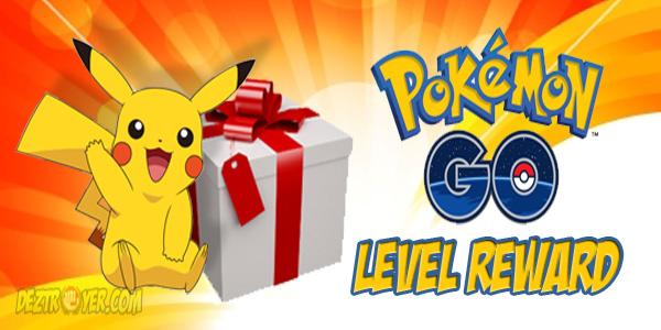 Hadiah naik Level dalam game pokemon GO