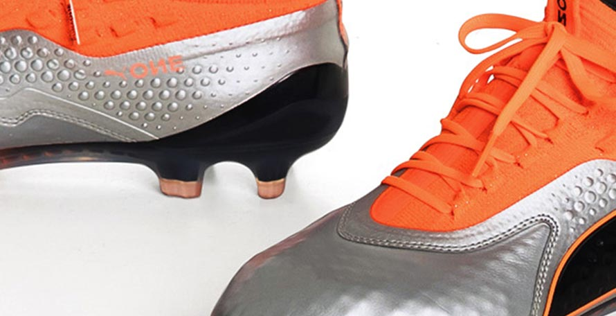 The next-gen Puma ONE boots receive a silver and orange update as part of  the new Uprising pack. 3a79ae49a