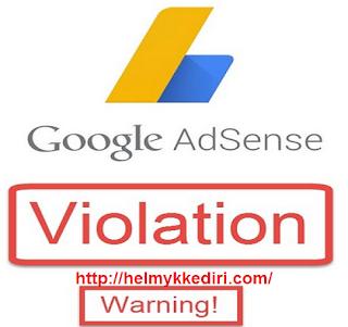 Mengatasi konten blog terkena peringatan adsense