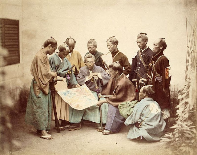 Satsuma and Choshu Samurais during the Boshin War
