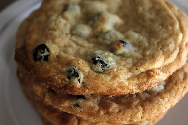 Recipe for Christina Tosi's Blueberry & Cream Cookies by freshfromthe.com.