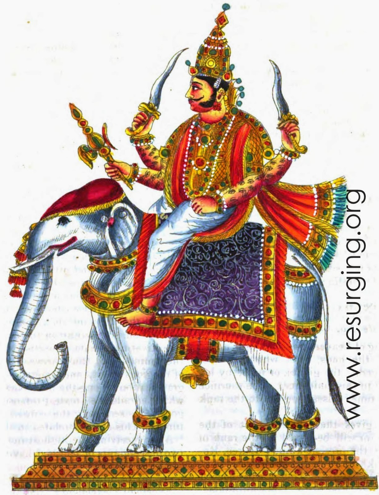 Lord Indra - Brief description about the king of Gods and also the