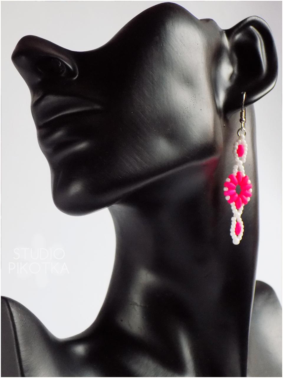 beading, superduo, kolczyki, handmade, rękodzieło, biżuteria, toho, toho round, earrings, jewellery