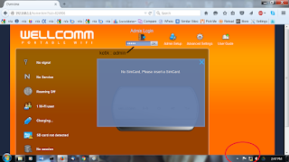 seting modem wellcomm via browser