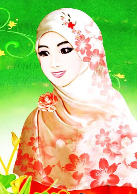 Download 500 Wallpaper Animasi Muslimah Berjilbab  Terbaru