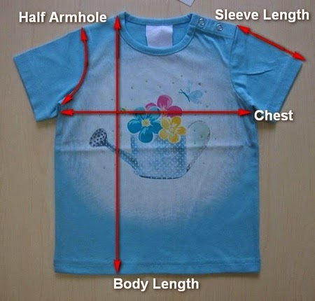 T-shirt & its measurement