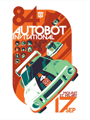 "Acidfree Gallery - ""Autobot Invitational"" Transformers Standard Edition Screen Print by Tom Whalen"