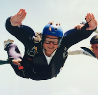 Author Skye Taylor skydiving