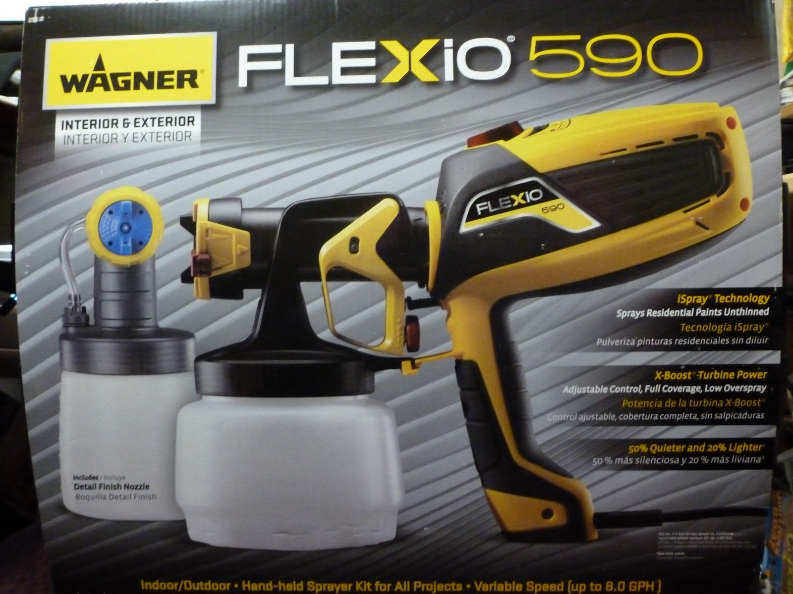 Wagner Flexio At The Fence Wagner Hand Held Flexio 590 Sprayer Kit