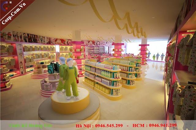 thiết kế cửa hàng mẹ và bé mẫu mới nhất