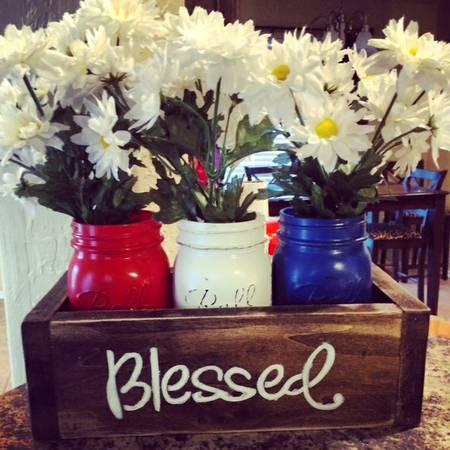 Patriotic Mason Jar Box - OKC Craigslist Buy