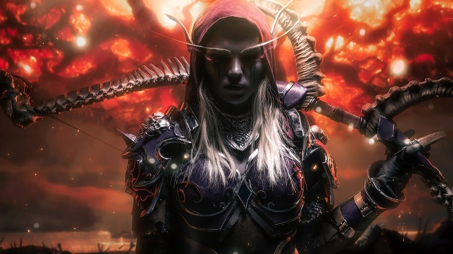 Sylvanas Windrunner Wow Fantasy Girl Elf 4k Wallpaper 3 961