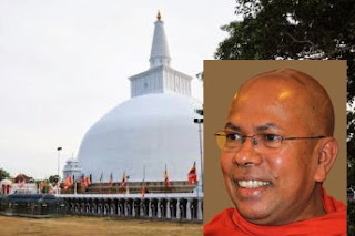 Kiribathgoda Gnanananda Thero on Ruwanweliseya, Anuradhapura Stupa