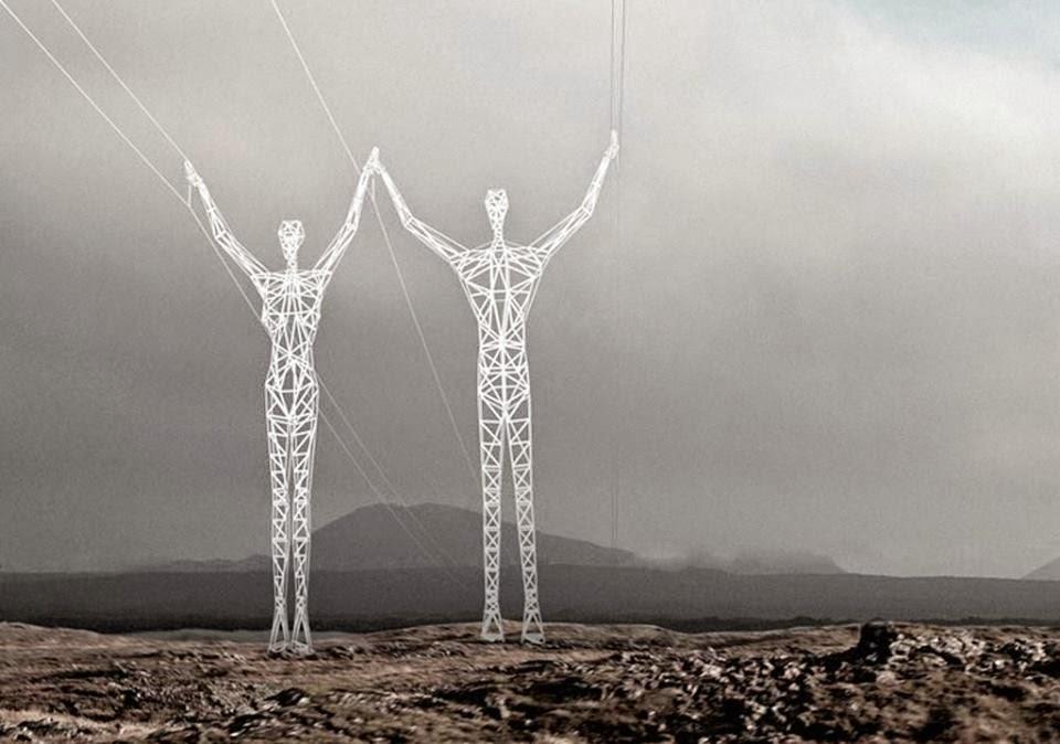 Torres electricas en islandia