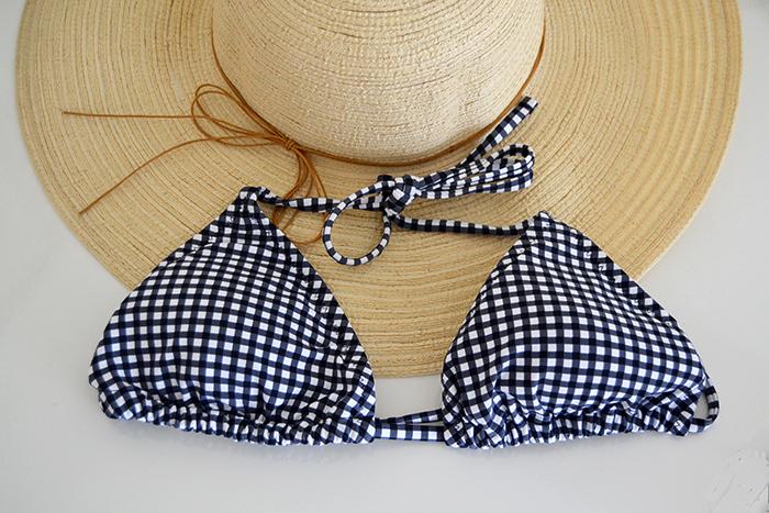 bikini vichy bianco nero