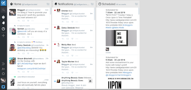 Tweetdeck Dashboard how to promote your blog posts