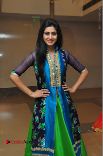 Actress Model Shamili Sounderajan Pos in Desginer Long Dress at Khwaaish Designer Exhibition Curtain Raiser  0027.JPG