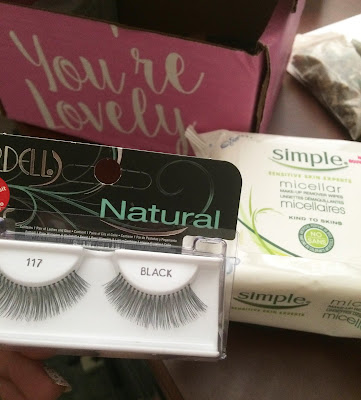 Ardell natural lashes 117 & Simple Micellar Makeup Remover Wipes; Blush VoxBox