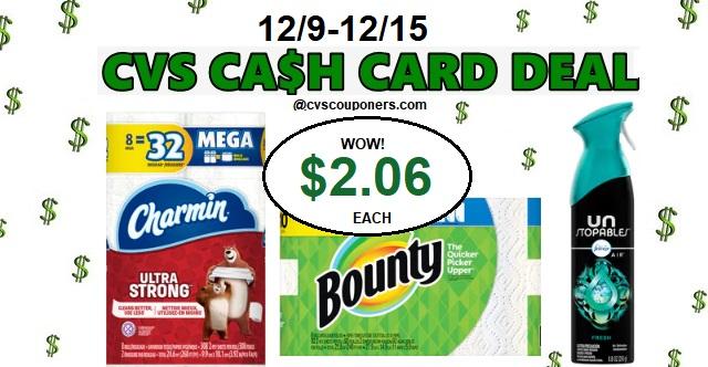 http://www.cvscouponers.com/2018/12/CVS-Cash-card-Charmin-Bounty-Deal.html