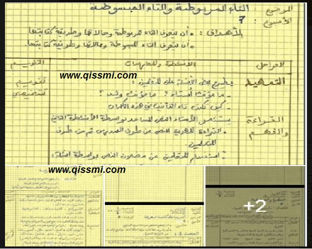 جذاذات مادة اللغة العربية للمستويين  الخامس و السادس ابتدائي بخط اليد