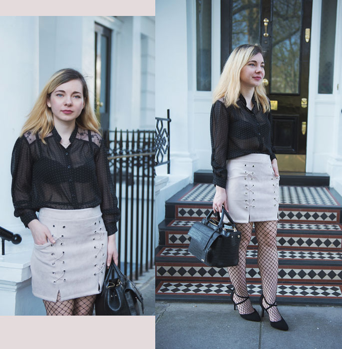 197a4738334 I M WEARING  Skirt - HERE   Heels - Asos   Blouse - Vintage   Bag - Zara So  through this post