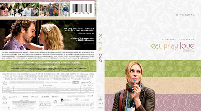 Eat Pray Love Bluray Cover