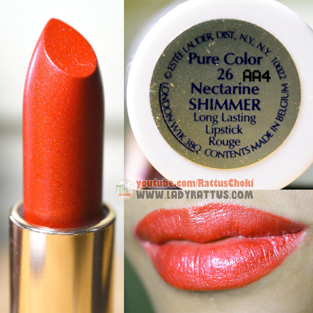 Estee Lauder Pure Color Long Lasting Lipstick in Nectarine and Rubellite