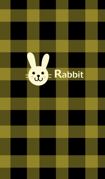 Rabbit and check pattern 2