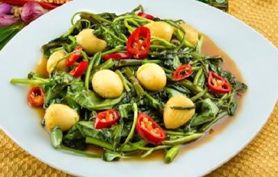 Resep Tumis Kangkung Spesial Telur Saus Tiram
