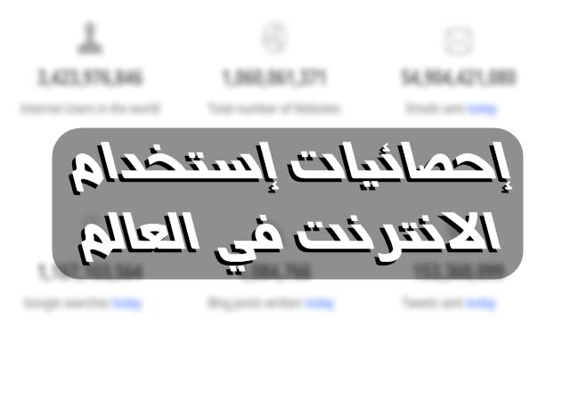 إذا كنت تريد معرفة نسبة إستخدام الإنترنت في العالم العربي و كم عدد مستخدمي الفيس بوك وتويتر و مواقع التواصل الإجتماعي فإليك أفضل موقع يقدم احصائيات استخدام النت في العالم و معرفة كم عدد مستخدمي الإنترنت في العالم كما يقدم معلومات عن نسبة استخدام الانترنت في العالم العربي .