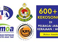 600++ Kekosongan Terkini di Pelbagai Jabatan / Agensi - Seluruh Negara | Lelaki & Wanita