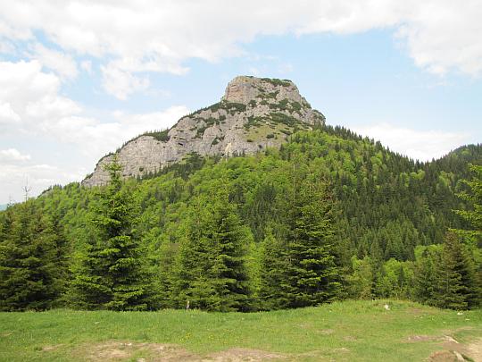Mały Rozsutec (1343 m n.p.m., słow. Malý Rozsutec) z polany Pod Tanečnicou.