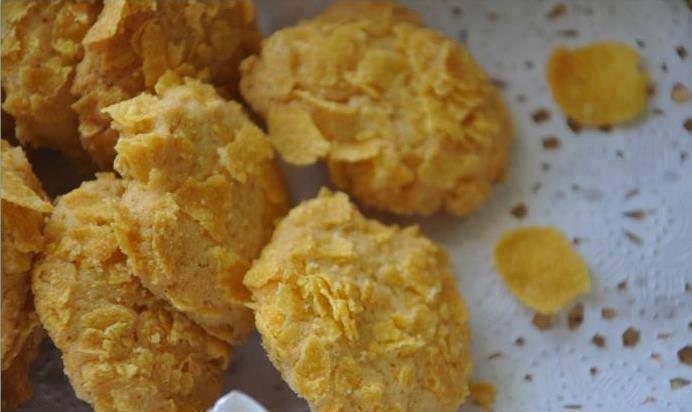 resepi kuih raya cornflakes badam