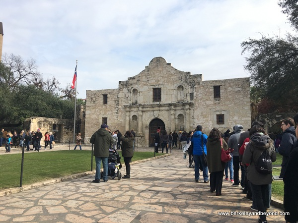 exterior line at The Alamo in San Antonio, Texas