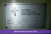 Mesin Potong Kertas Polar 92CE