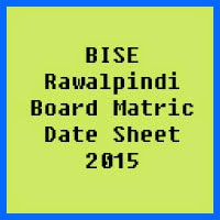 Matric Date Sheet 2017 BISE Rawalpindi Board