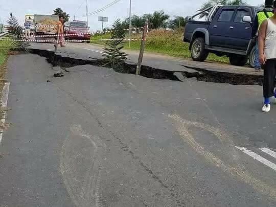 Gempar Jalan Terbelah Kerana Gempa Bumi Di Sabah