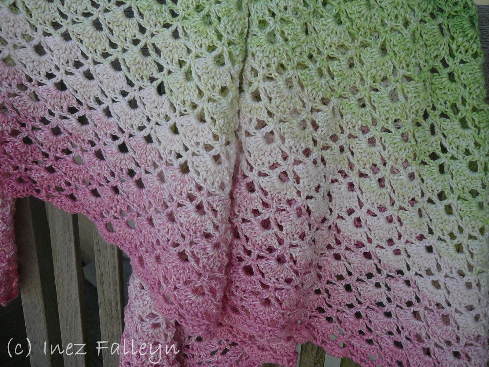 Extreem Crochet shawl - gehaakte omslagdoek   Ineseda KC33