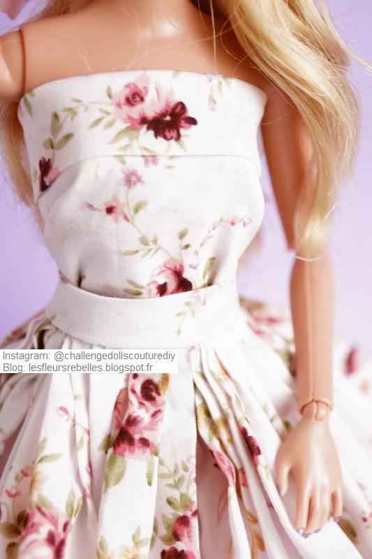 Bustier robe fleurie
