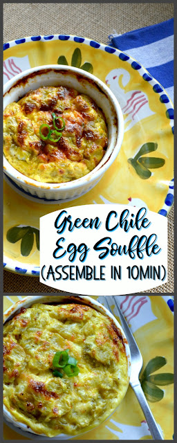 The fast and delicious egg souffle is made by layering your favorite ingredients and then pouring a combo of milk and beaten eggs over the top. It rises quite nicely and only takes 10 minutes to throw together. Perfect for brunch and makes everyone feel so special! #brunch #souffle #eggs #breakfast www.thisishowicook.com