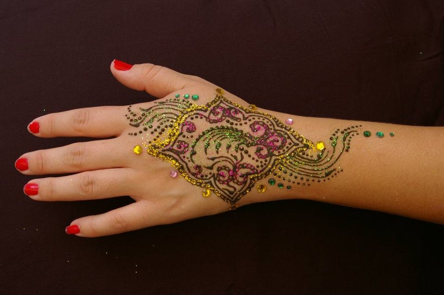 bridal mehndi designs fancy glitter henna for hands