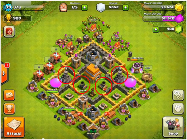 Town hall level 6 coc