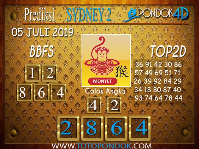 Prediksi Togel SYDNEY 2 PONDOK4D 05 JULI  2019
