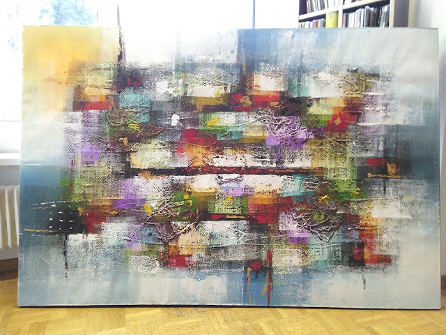Gemälde mit Keilrahmen Blindrahmen