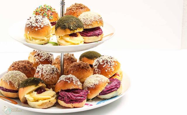 süßes fingerfood für die Karnevalsfete - Mini-Ofenberliner gefüllt