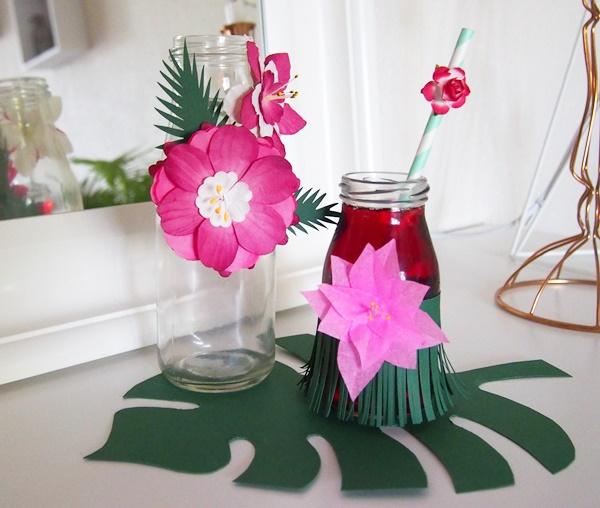 DIY : bouteilles tropicales