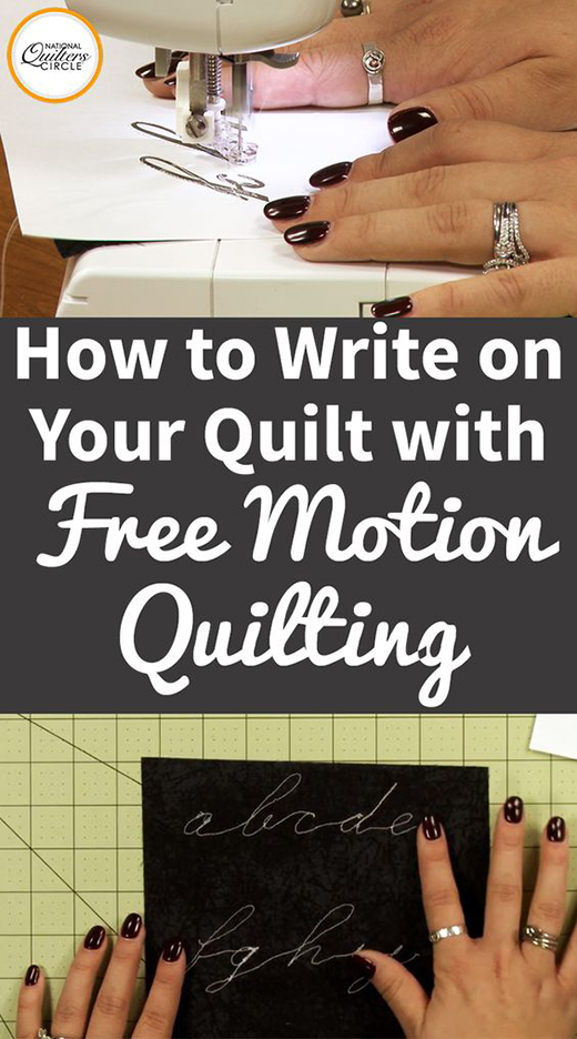 How to Write on Your Quilt with Free Motion Quilting