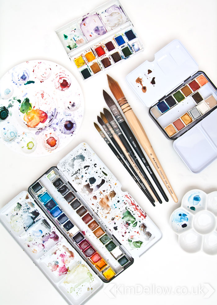 Watercolor paint suggestions from Kim Dellow