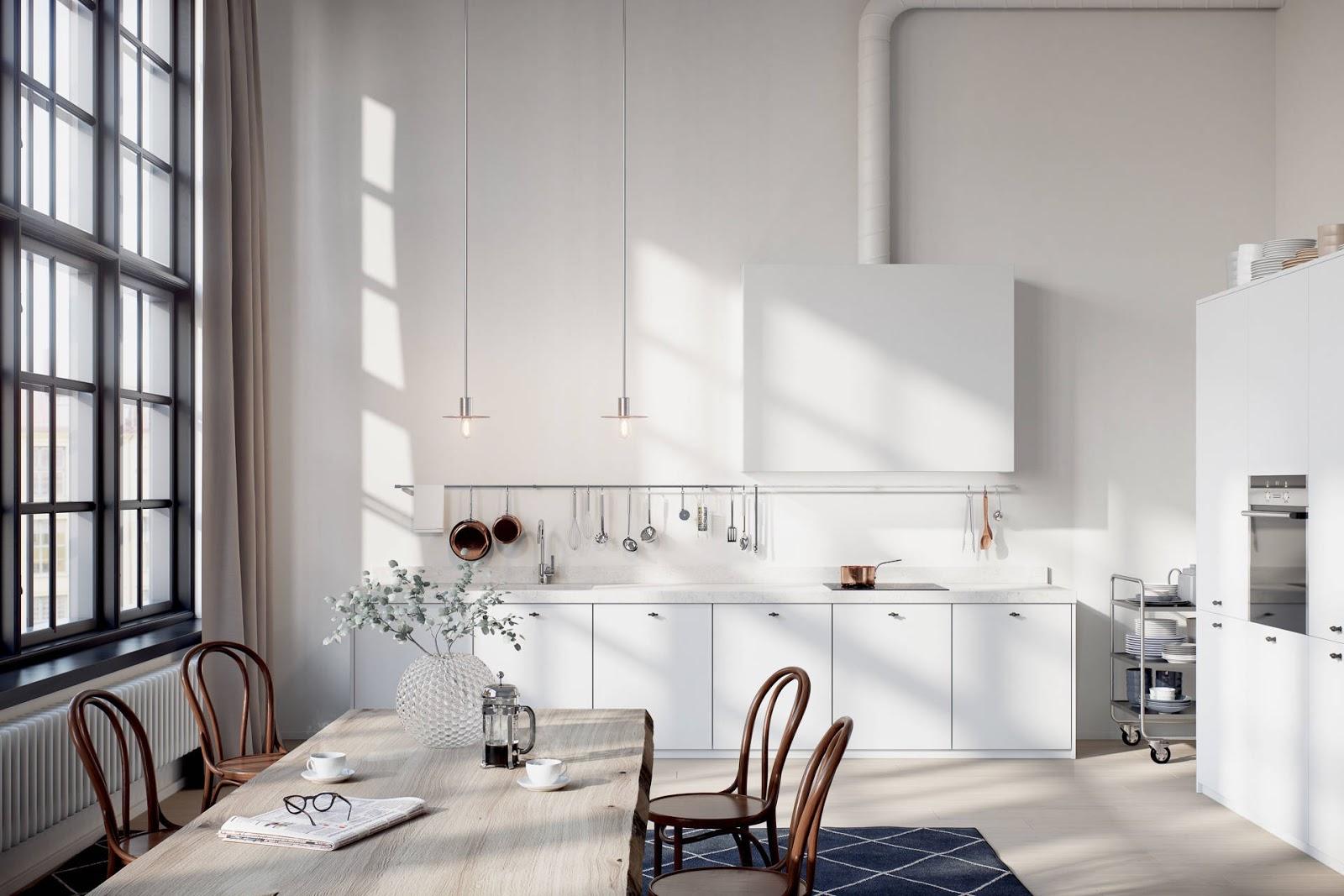 Converted industrial building - kitchen interior